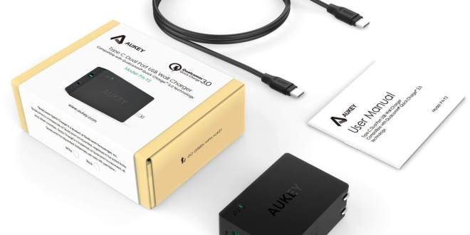 Aukey Type-C & Quick Charge 3.0 Port wall charger