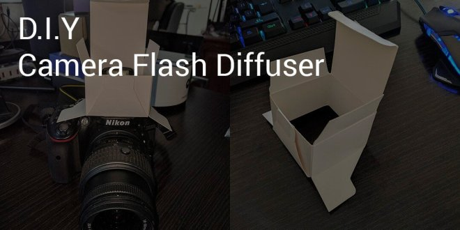 DIY - Camera flash diffuser cryovex pic2