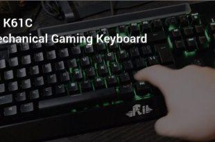 Rii K61C mechanical gaming keyboard header