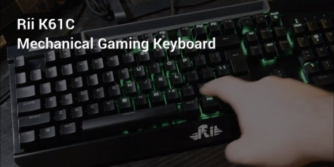 Rii K61C mechanical gaming keyboard header