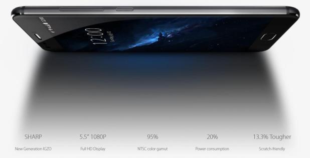 UMi Z sharp display full HD uses less power