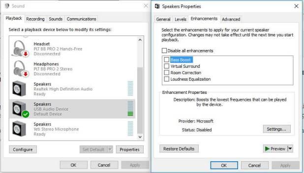 AUKEY CB-V13 audio adapter windows 10 settings
