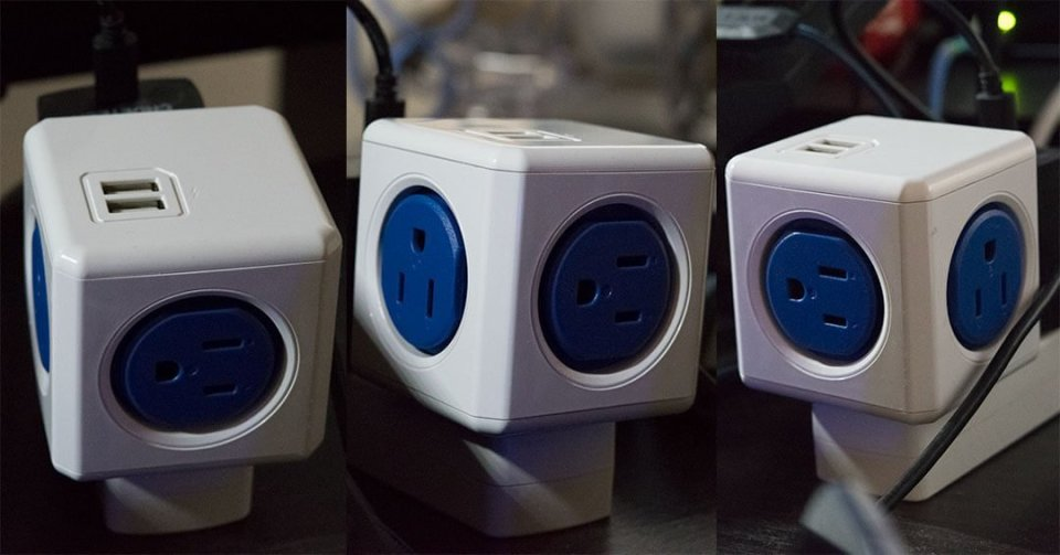 The original PowerCube providing 4 outlet and 2 USB port 1