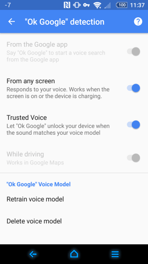 Android Smart Lock Truste voice