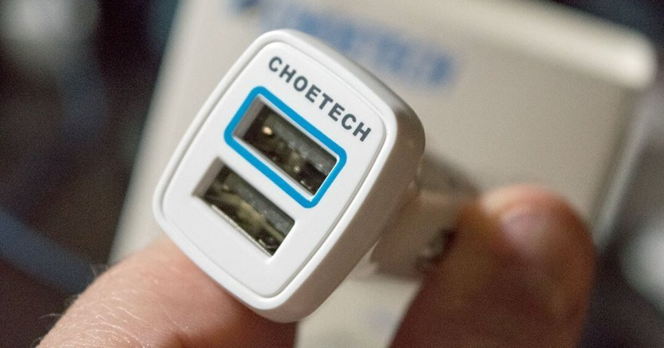 CHOETECH Dual USB Quick Charge 2.0 cryovex C0046