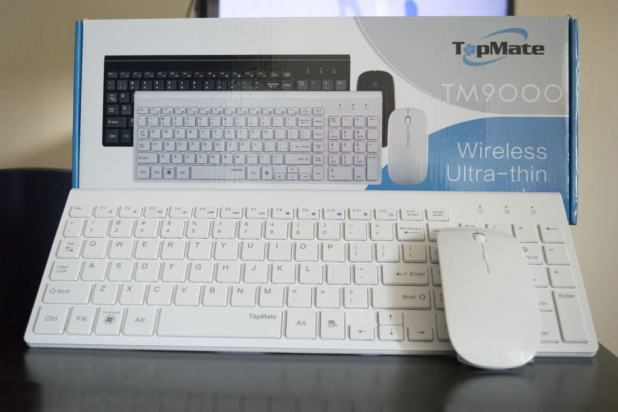 TOPMATE KM9000 Ultra-thin wireless keyboard mouse combo review cryovex