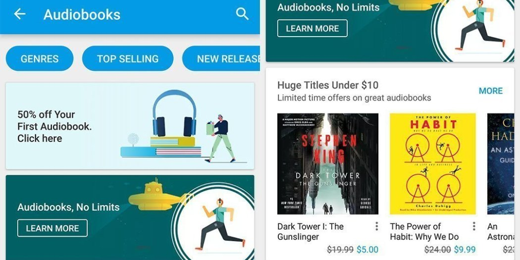 Google Play Books Audiobooks