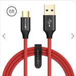 BlitzWolf Ampcore Plus BW-TC10 3A Kevlar Durable USB 3.0 to Type-C Charging Data Cable 6ft/1.8m