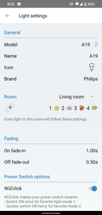 WiZ App cryovex screencapture 9