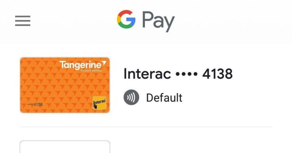 Tangerine Google Pay Canada Martin Guay Ottawa Android
