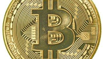 Gold Plated Bitcoin Coin Collectible Gift Casascius Bit Coin