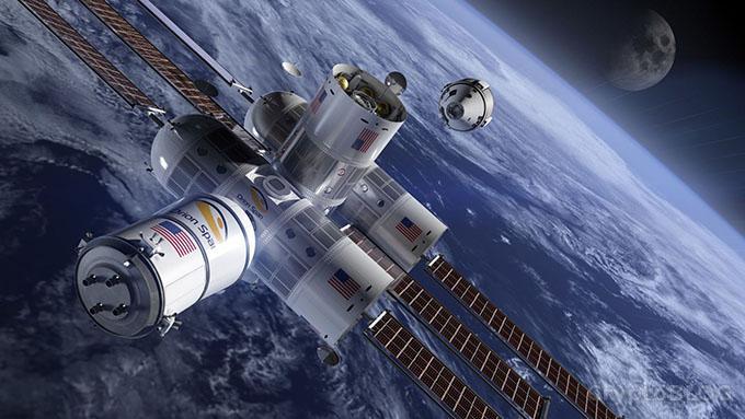 За криптовалюту можно будет отдохнуть в отеле на космической станции