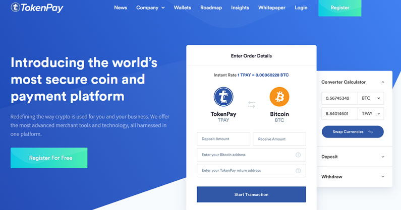 TokenPay – Coin that you must have because most secure
