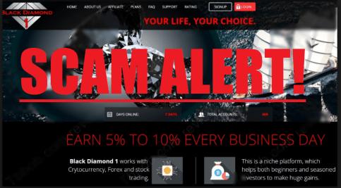 black diamond 1 scam