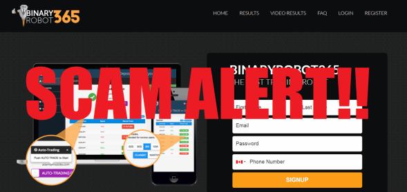 Binary Robot 365 scam alert