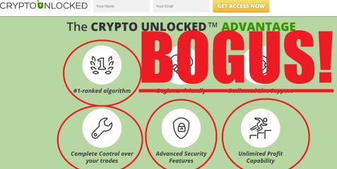 Crypto Unlocked Bogus Results