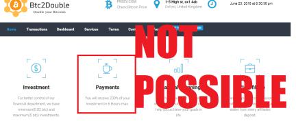 BTC2Double Scam