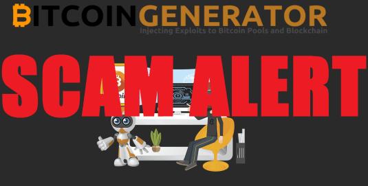 Bitcoin generator alert