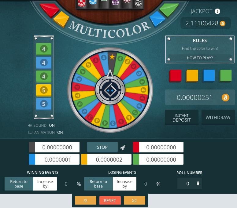 bitsler bitcoin casino wheel
