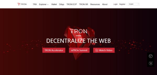 Tron Homepage