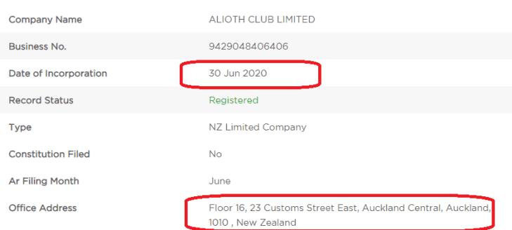 Unverified address