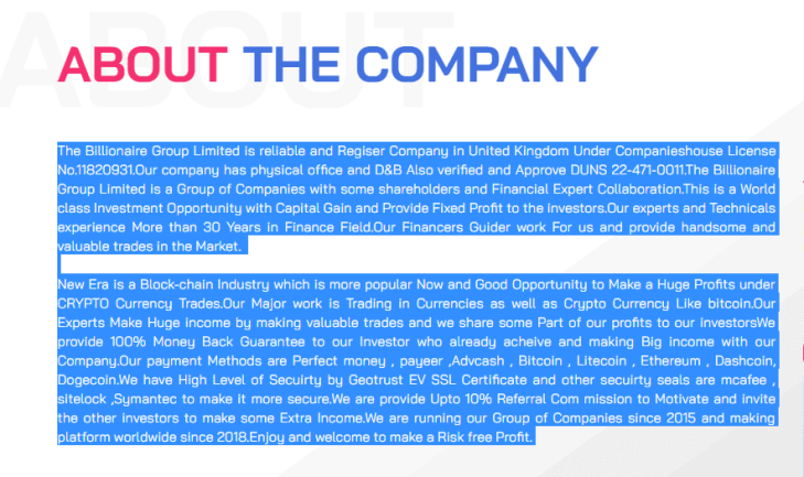The billionaire Group