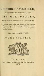 histoire naturelle des mollusques deny de Montfort
