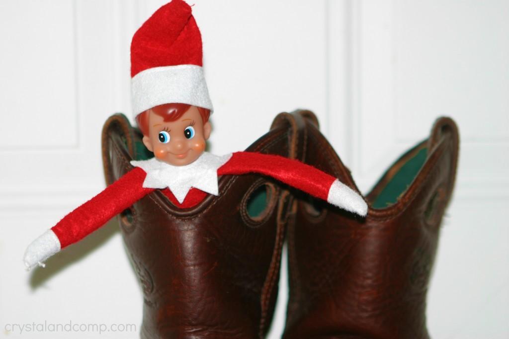 elf on the shelf  daddy u0026 39 s boots