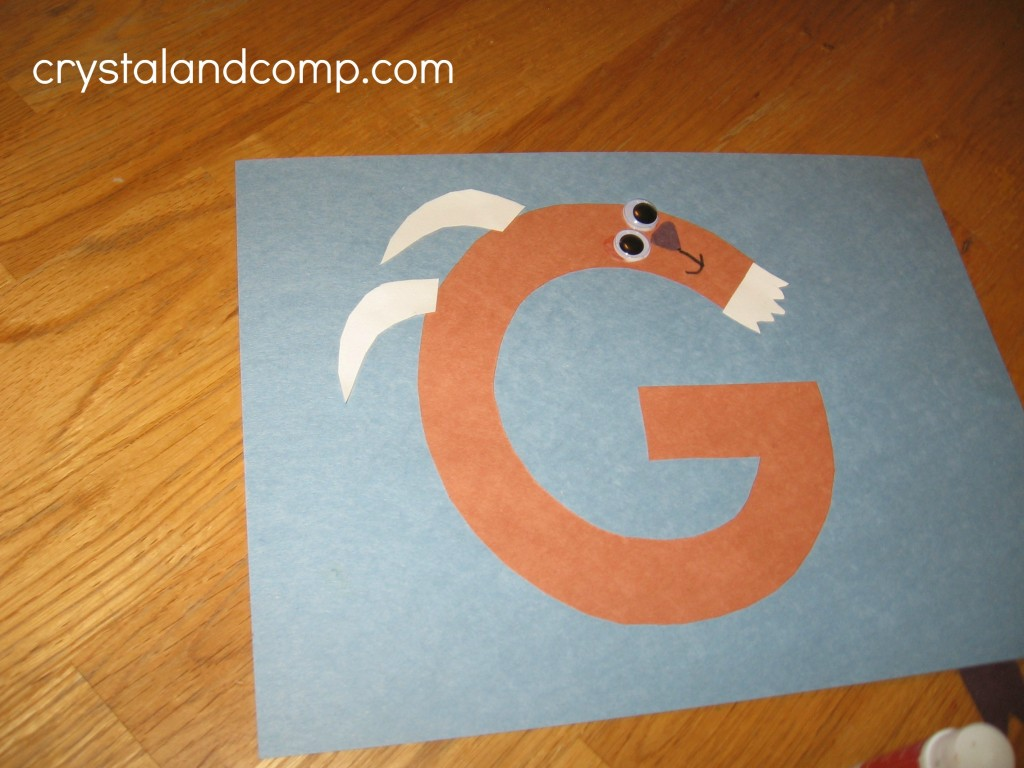Letter Fo The Week Preschool Craft G Is For Goat