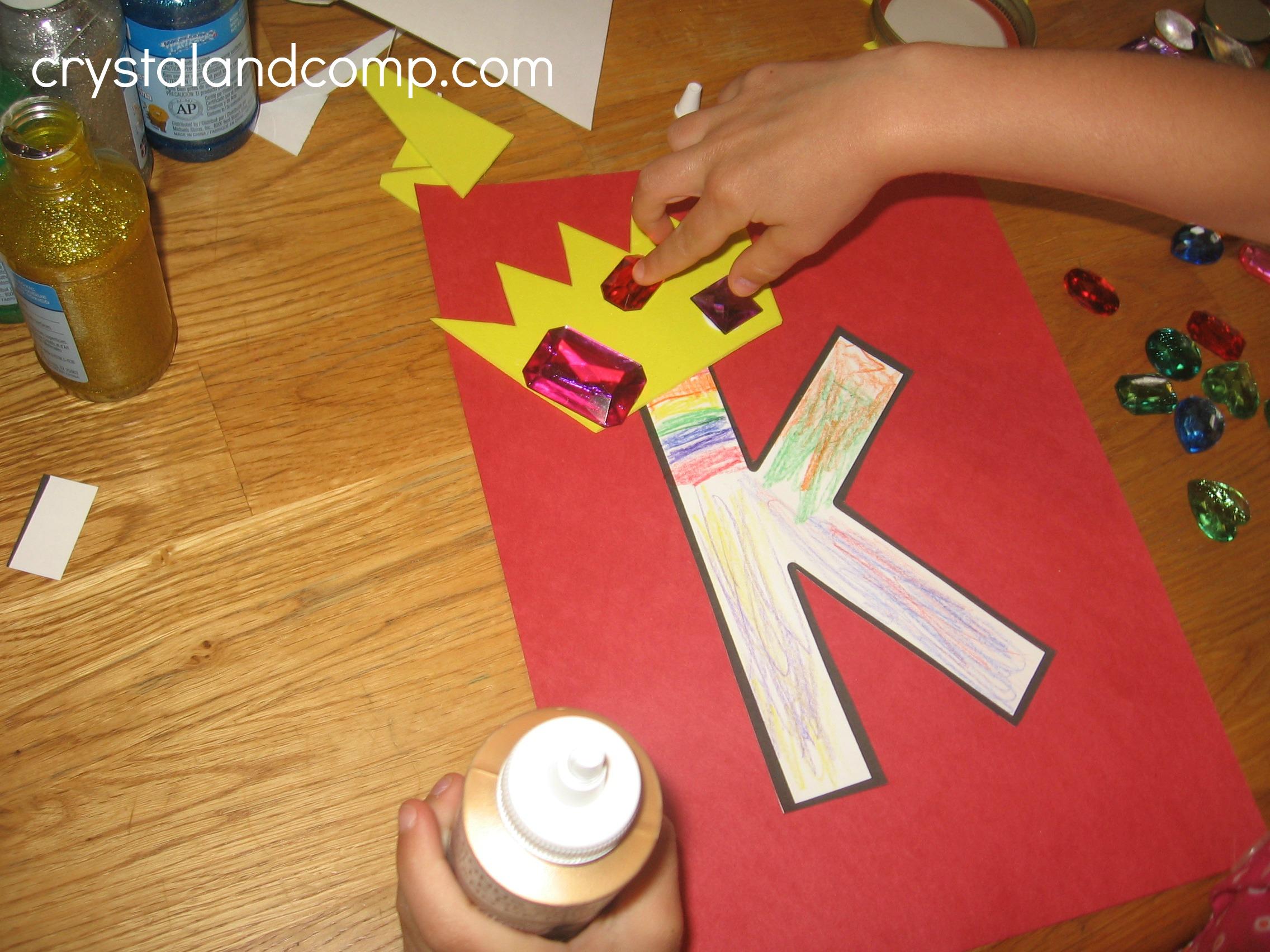 Alphabet Activities For Preschoolers K Is For King