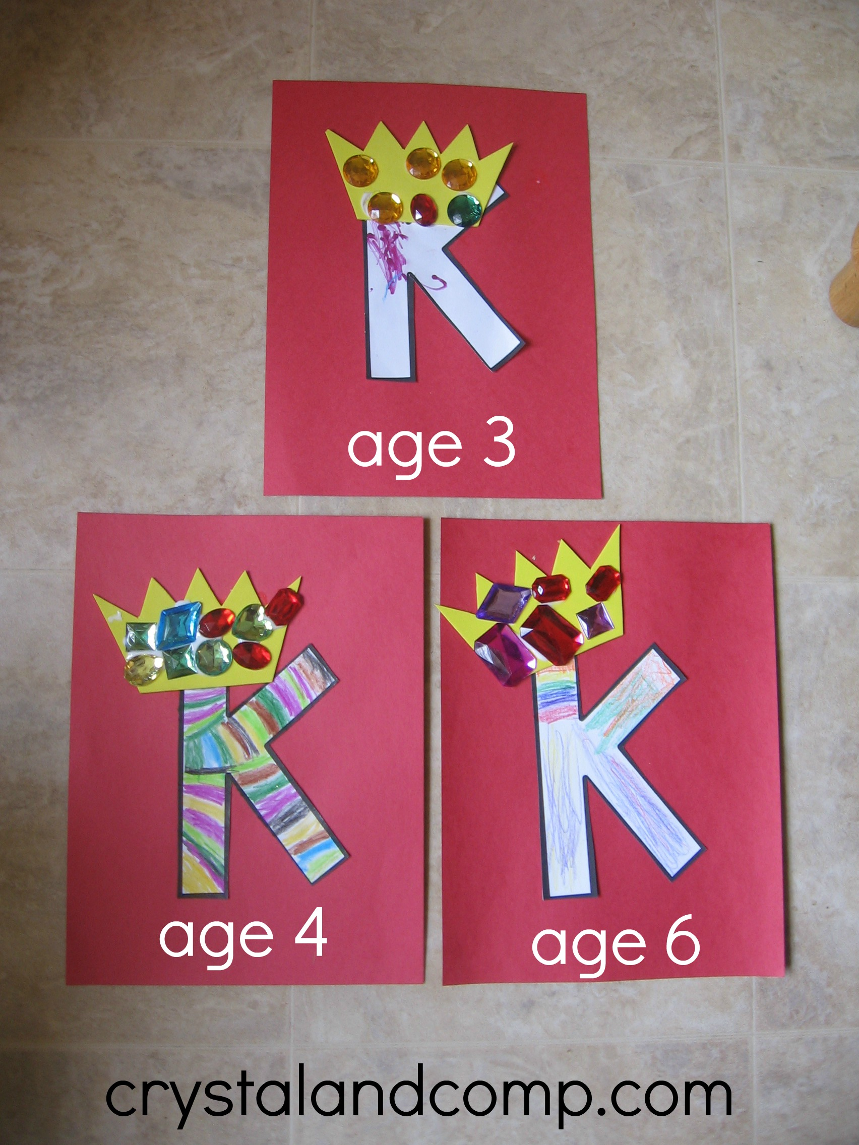 K Is For King A Letter Of The Week Preschool Craft
