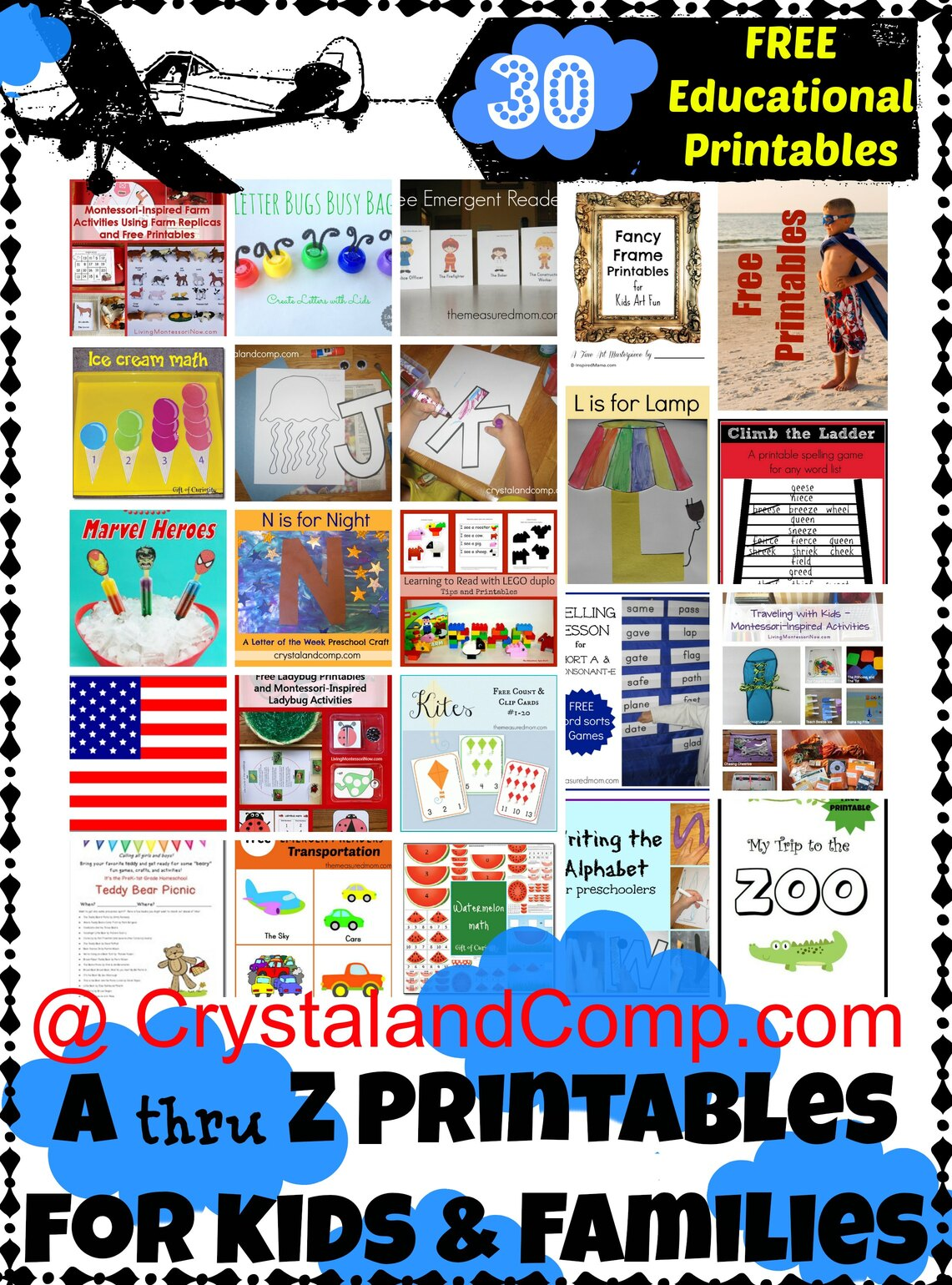 30 Free A Thru Z Educational Printables For Kids And