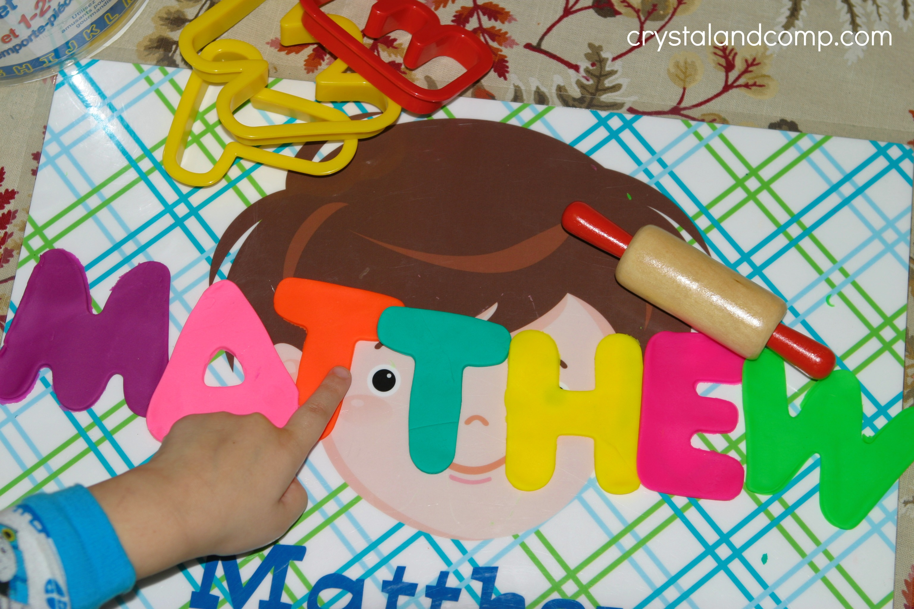 Name Practice For Preschoolers Using Play Dough
