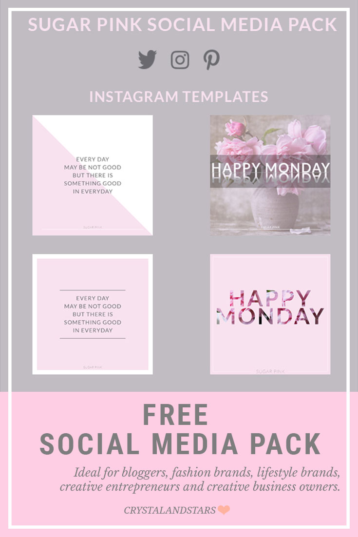 FREE SOCIAL MEDIA PACK – INSTAGRAM, PINTEREST AND TWITTER TEMPLATES