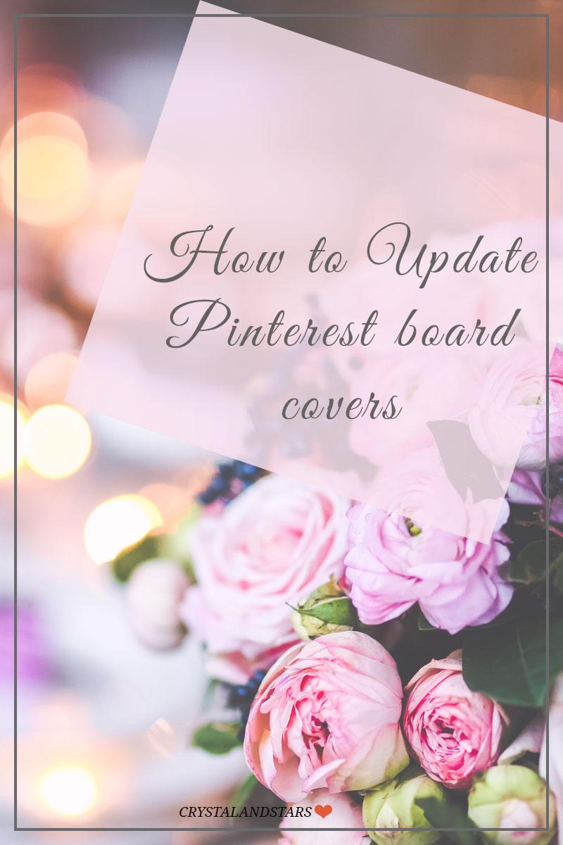 Update pinterest board covers