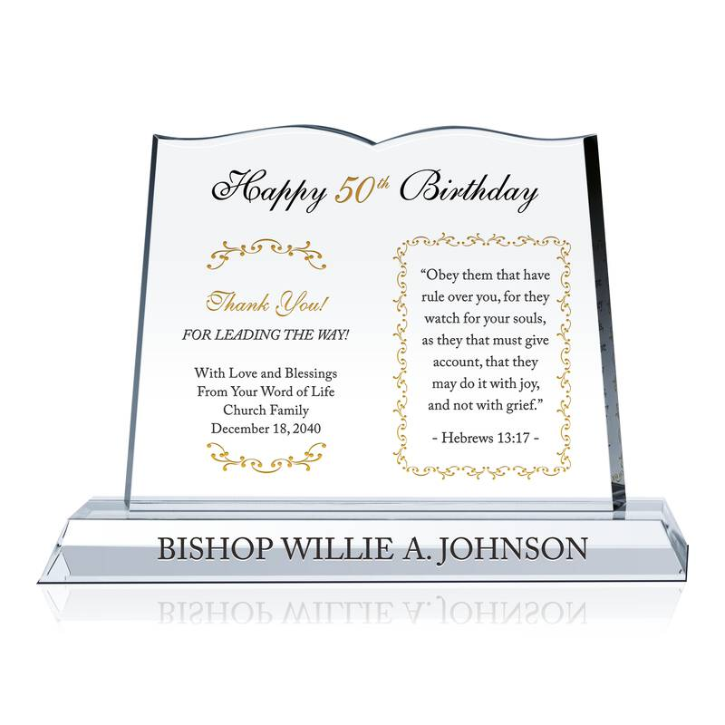 50th Birthday Gift For Pastor Wording Sample By Crystal Central
