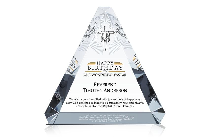 Pastor Happy Birthday Gift Plaque