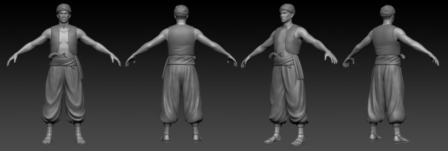 Another nearly complete Wealth character modeled in 3D