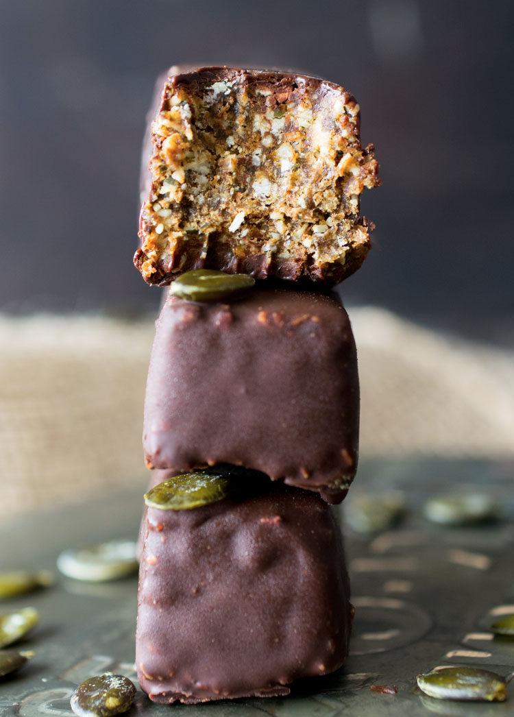 Chocolate Pumpkin Energy Bars