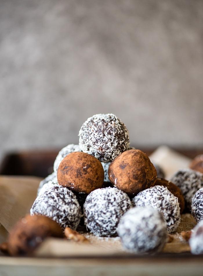 vegan rum balls