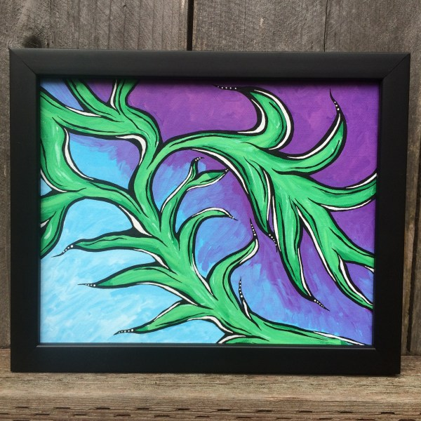 Vines_Acrylic_on_Canvas_-_8x10_Painting_in_Black_Frame_by_Mark_Bray - 1