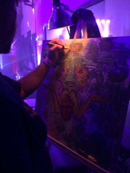Luis Marroquin Painting at J7 Studios