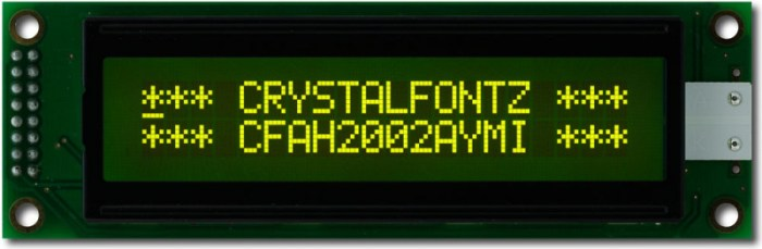 20x2 Character Display - crystalfontz.com