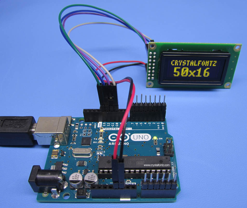 Arduino With Crystalfontz SPI Graphic OLED