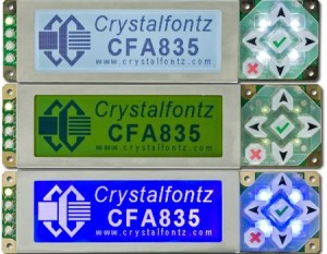 Crystalfontz 835 Keypad LCD Display Modules