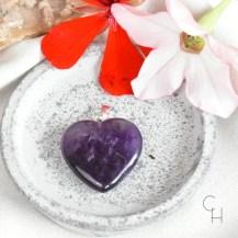 Hänge hjärta ametist