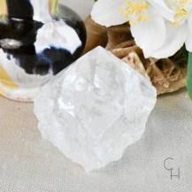 Råslipad spets bergkristall 4