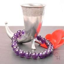 Armband ametist pärlor