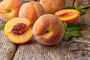Fresh peaches for facial mask at CHO