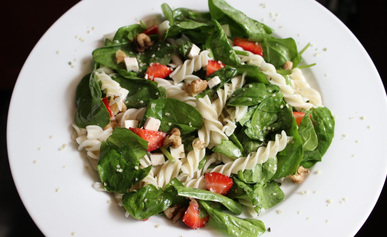 Strawberry Feta Pasta